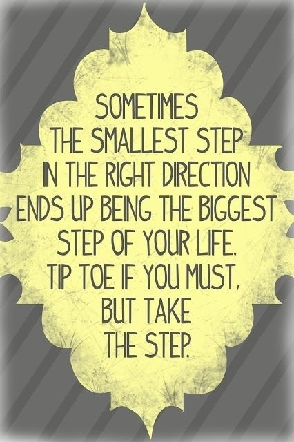 Take the step...